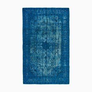 Blau Eingefärbter Teppich