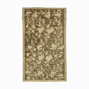 Beige Anatolischer Vintage Teppich