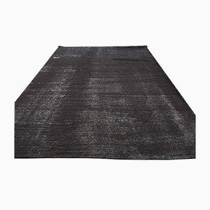 Turkish Vintage Area Black Solid Carpet