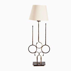 Lámpara de pie italiana de hierro forjado