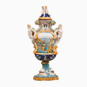 Hand-Painted Porcelain Vase, 1920s