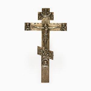Antikes Altar Kreuz von F-Ka Dmitry Shelaputin, Moskau, 1888