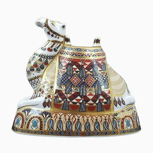 Royal Crown Derby Camel with Gold Stopper