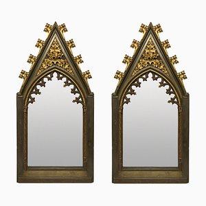 Espejos góticos grandes, principios del siglo XIX. Juego de 2