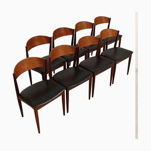 Teak Chairs from Jydsk Møbelindustri Skanderborg, 1960s, Set of 8