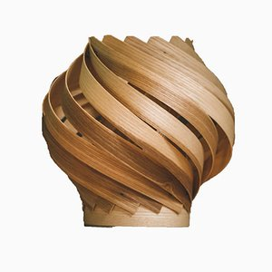 Gemma Table Lamp in Olive Ash Wood from Gofurnit