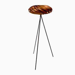Floor Lamp Veneria in Smoked Satin Walnut from Gofurnit