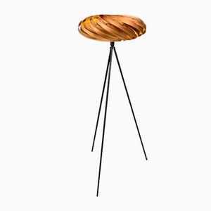 Floor Lamp Veneria in Satin Walnut from Gofurnit
