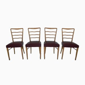 Beech Chairs, 1960s, Set of 4