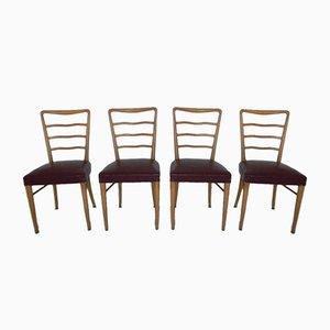 Buchenholz Stühle, 1960er, 4er Set