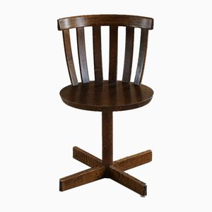 Vintage Swedish Modern Swivel Desk Chair in Beech from Edsbyverken, 1960s