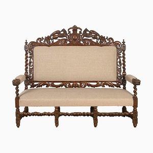 Französisches viktorianisches Hunting Sofa