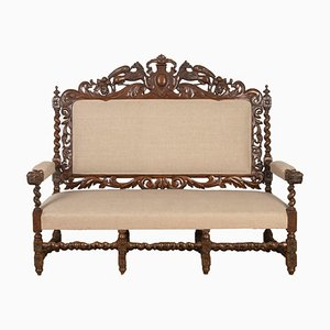 French Victorian Hunting Sofa