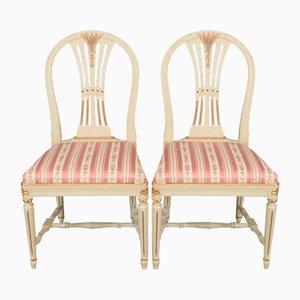 Gustavian Ear Model Chairs, Set of 8