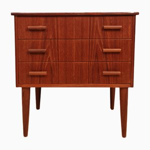 Mid-Century Danish Teak Chest of Drawers with 3 Drawers, 1960s