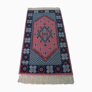 Alfombra oriental vintage de lana tejida a mano