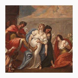 Antique Italian Biblical Painting, 18th Century