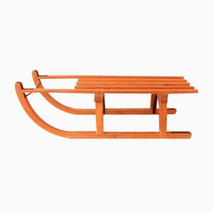 Vintage Swiss Wooden Sled by Pilz-Davos
