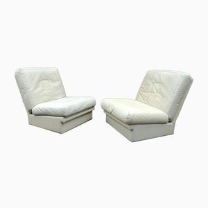 Leather Lounge Chairs from Steiner, France, Set of 2