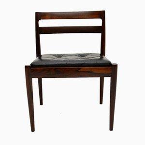 Vintage Danish Wood & Leather Chair