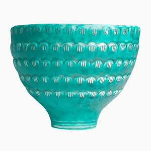 Ceramic Argenta Bowl with Silver Decorations by Wilhelm Kåge for Gustavsberg