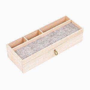 Wooden Desk Organizer with Storage Drawer from Oitenta
