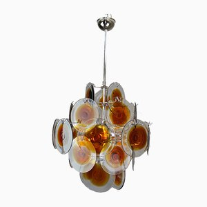 5-Flame Chandelier from Vistosi, 1960s