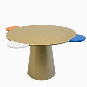 Tavolo Donald dorato di Chapel Petrassi