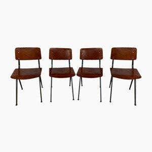 Industrielle Mid-Century Stühle von Marko, 4er Set