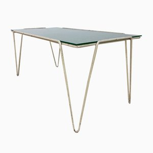 Vintage Modern Coffee Table with Hairpin Legs, 1950s