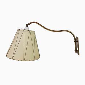 Dänische Messing Wandlampe, 1950er