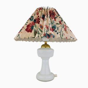 Danish Opaline Glass Table Lamp from J. Sommer Aps, 1970s