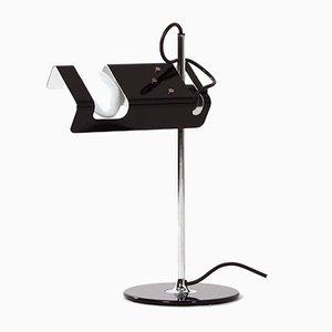 Schwarze Spider Schreibtischlampe von Joe Colombo für Oluce, 1990er