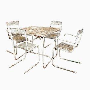 Set da giardino vintage in metallo di Mathieu Mategot, set di 5