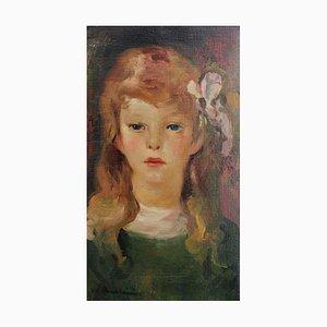 Portrait of Girl with Bow in Her Hair von Luigi Corbellini, 1930er