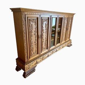 Mueble de salón de madera maciza, años 30