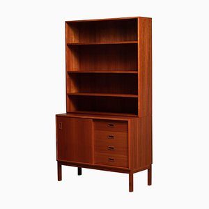 Teak Bookcase with Adjustable Shelves, Denmark, 1960s
