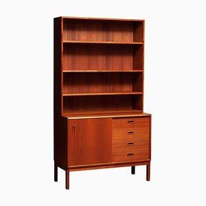 Teak Bookcase Cabinet with Adjustable Shelves, Denmark, 1960s
