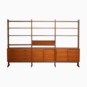 Teak Parade Bookcase or Shelving System by Nils Nisse Strinning for String, 1950s