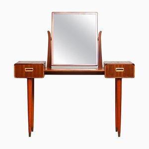 Slim Mahogany Dressing Table / Vanity from Tibro, Sweden, 1950s