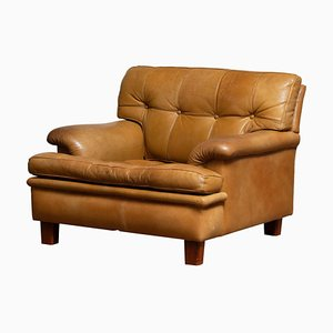 Camel Buffalo Leather Merkur Chair by Arne Norell, 1960s, Sweden