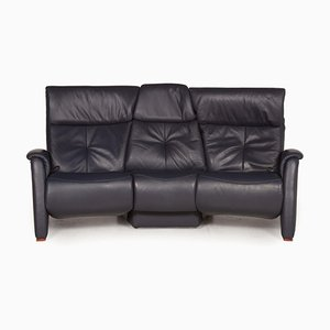 Cumuly Blue Leather Sofa from Himolla