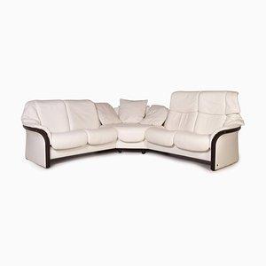 Eldorado White Leather Corner Sofa from Stressless