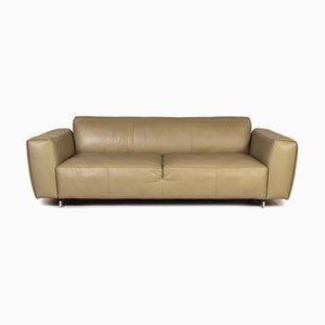 550 Teno Green Leather Sofa by Rolf Benz