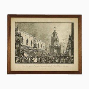 Giovan Battista Brustolon, Grabado, Antonio Canaletto