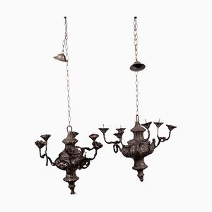 Chandeliers in Torchiere, Set of 2