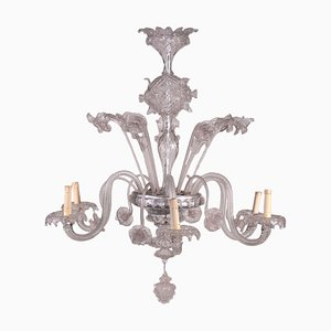 Lámpara de araña de cristal de Murano