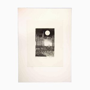 Leo Guida, Night Landscape, 1970, Grabado original