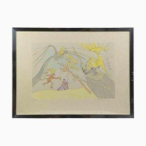 Salvador Dalí, The Elephant and Jupiters Monkey, 1974, Original Radierung