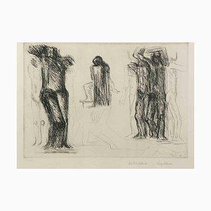 Fritz Wotruba, Homage to Michelangelo, 1975, Grabado original